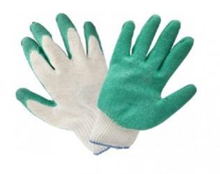 Перчатки ХБ с одинарным латексным покрытием