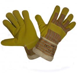 Перчатки рабочие спилковые комбинированные (утепленные)