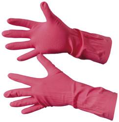 Перчатки хозяйственные резиновые с ХБ напылением