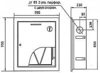 Шкаф пожарный ШПК-310ВЗ встроенный закрытый