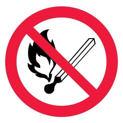P02 Запрещается пользоваться открытым огнем и курить