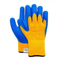 Перчатки двойные трикотажные с покрытием из латекса Снегирь