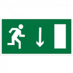 E 09 Указатель двери эвакуационного выхода (правосторонний)