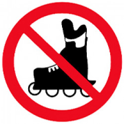 Знак проход на роликах запрещен