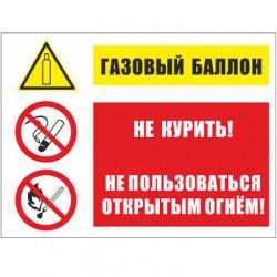 KZ 14 Газовый баллон. Не курить. Не пользоваться открытым огнем