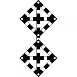Знак поднять нож, закрыть крылья (Два препятствия)