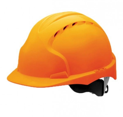 Каска строительная оранжевая с храповиком