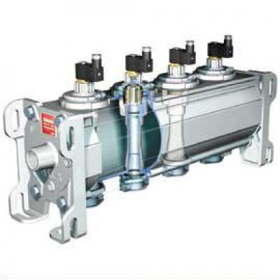 Клапанный модуль со встроенными поршневыми импульсными клапанами