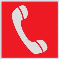 F05 Телефон для использования при пожаре (в том числе телефон прямой связи с пожарной охраной) (Световозвращающий)