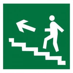 E16 Направление к эвакуационному выходу по лестнице вверх (левосторонний)