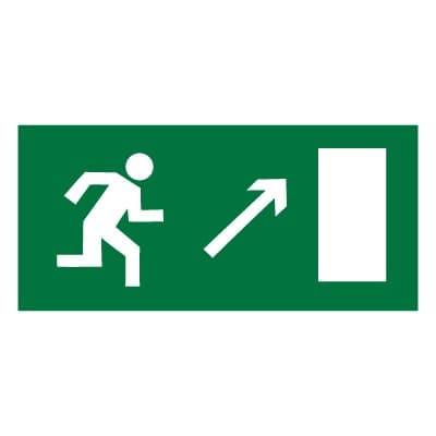 E05 Направление к эвакуационному выходу направо вверх