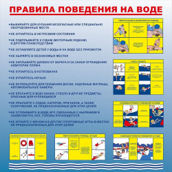 Стенд правила поведения на воде