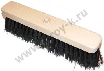 Щётка-швабра д/пола деревянная с резьбовым отверстием, 280мм, б/чер