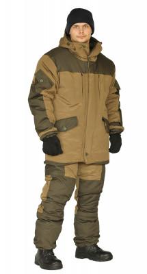 "Костюм зимний ""ГОРКА 3"" куртка/брюки, цвет: св.хаки/т.хаки, ткань: Полибрезент"