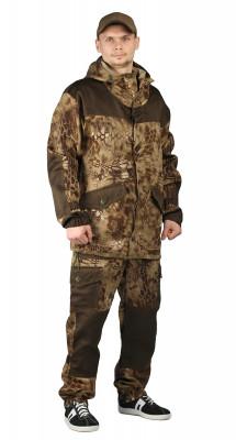 """Костюм """"ГОРКА-ГОРЕЦ"""" куртка/брюки, цвет: кмф """"Питон коричневый""""/т.хаки, ткань: Грета"""