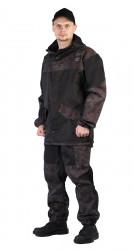 """Костюм """"ГОРКА-ГОРЕЦ"""" куртка/брюки, цвет: Черный/кмф """"Питон черный"""", ткань: Грета"""