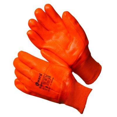 Gward Flame Трикотажные утепленные перчатки с оранжевым МБС покрытием