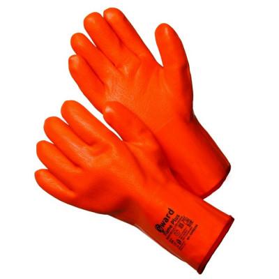 Перчатки Gward Flame Plus трикотажные утепленные с МБС покрытием цельнозалитые