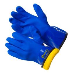 КЩС МБС перчатки Gward Barrel Plus с текстурированным ПВХ цельнозалитые с мехом