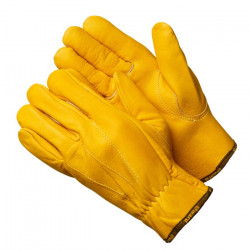 Перчатки Gward Force Gold желтые кожаные анатомического кроя