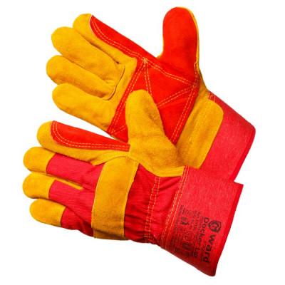 Перчатки Gward Docker Lux улучшенные спилковые комбинированные с усилением