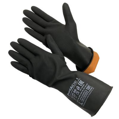 Перчатки Gward ACID 1 КЩС тип 1 резиновые технические