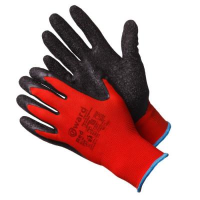 Перчатки Gward Red нейлоновые  с текстурированным латексом