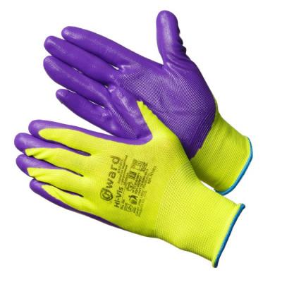 Перчатки Gward Hi-Vis нейлоновые с нитриловым покрытием
