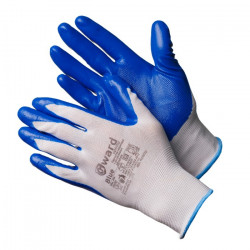 Перчатки Gward Blue из нейлона с нитриловым покрытием