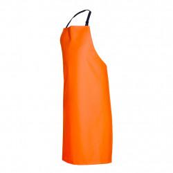 Фартук специальный из винилискожи с карманами оранжевый