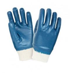Перчатки ХБ с манжетой, покрытие нитрил
