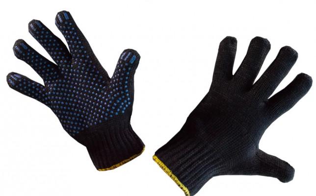 Перчатки утепленные полушерстяные c ПВХ