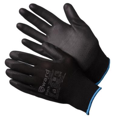 Перчатки Gward Black нейлоновые черные с черным полиуретаном