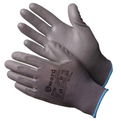 Перчатки Gward Gray нейлоновые серые с серым полиуретаном