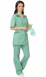 """Костюм """"СИРИУС-Женева"""" женский: куртка, брюки светлая мята с тёмно-зелёным (СТ)"""