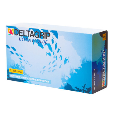 Перчатки Deltagrip Ultra LS Синие нитриловые мультифункциональные