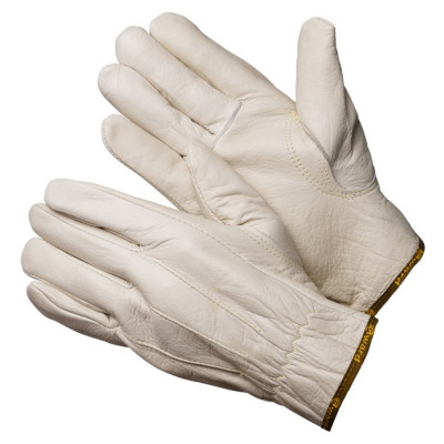 Перчатки Gward Force серые кожаные анатомического кроя